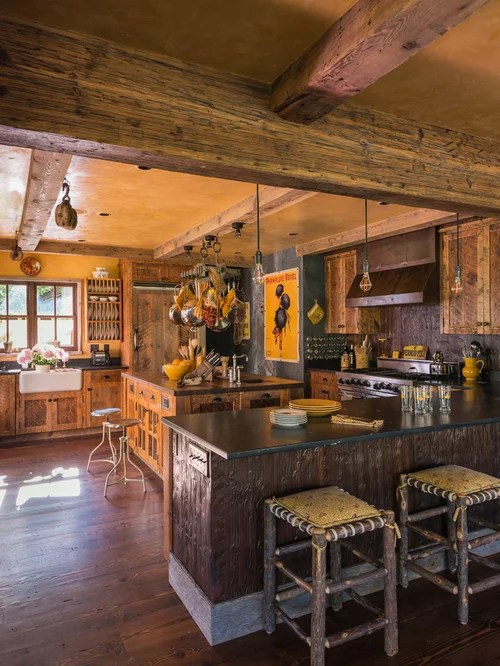 Rustic Modern Family Room Rustic Wood Ceiling Beams Ideas, Pictures, Remodel And Decor