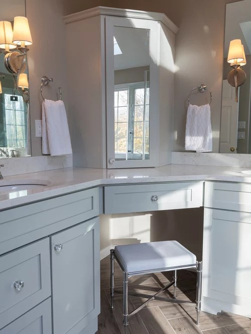 Undermount Bathroom Sink Split Double Vanity | Houzz