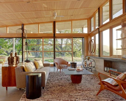 Midcentury Modern Living Room Houzz - mid century modern living room