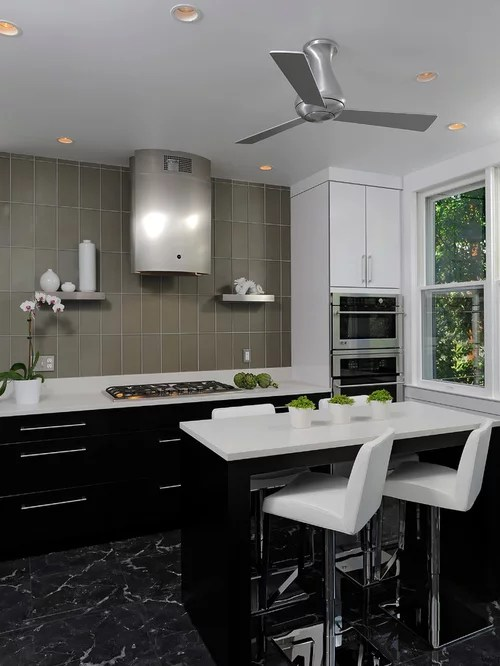 kitchen design ideas renovations photos black cabinets small contemporary shaped eat kitchen idea moscow flat
