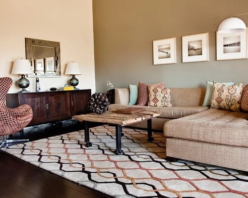 Accent Wall Living Room Houzz - accent wall ideas for living room