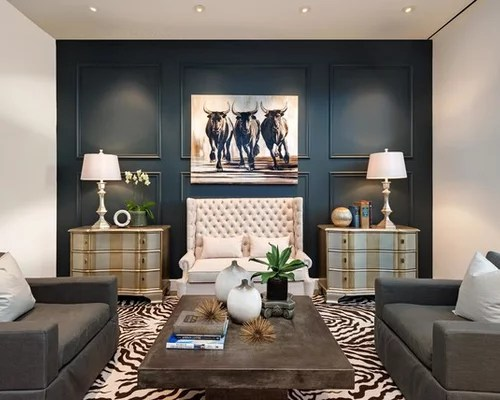 Accent Wall Living Room Houzz - accent wall in living room