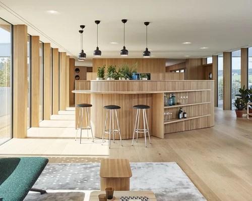 Hausbar mit Arbeitsplatte aus Holz einrichten - Ideen, Design \ Bilder - designer schranke holz keramik