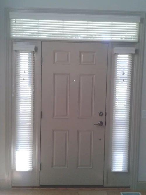 Sidelight window treatments with transom window blinds