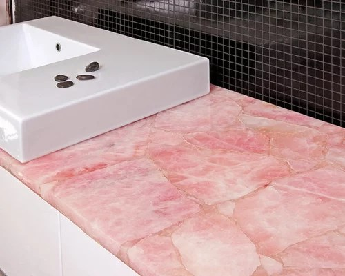 Quartz That Looks Like Marble Best Pink Countertop Design Ideas & Remodel Pictures | Houzz