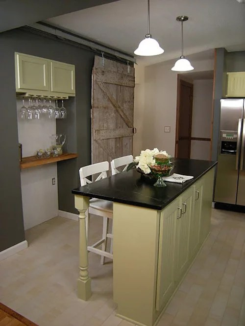 eat kitchen design ideas renovations photos green cabinets small shaped eat kitchen design ideas remodels photos