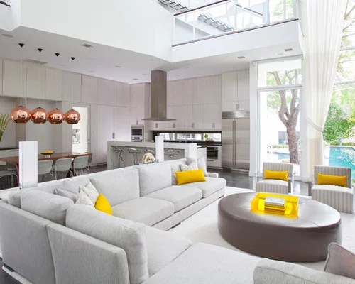 Yellow Gray Turquoise Living Room Houzz - grey and turquoise living room
