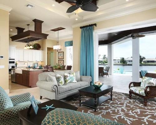 Teal Living Room Houzz - houzz living room furniture