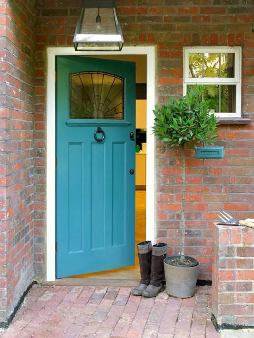 Houzz | Brick House Front Door Color Design Ideas & Remodel Pictures