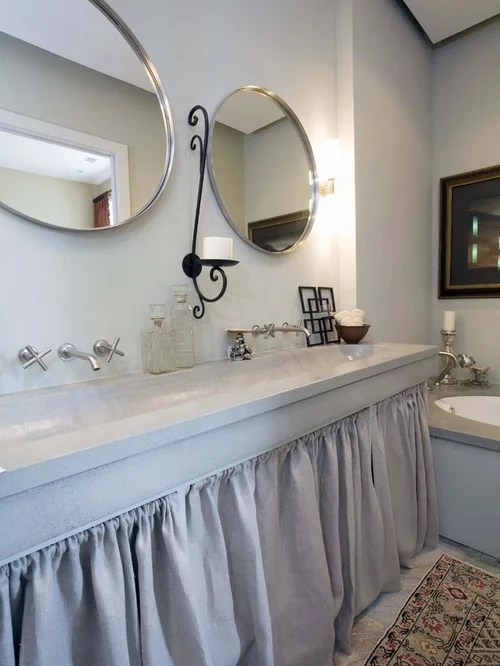 Washer And Dryer Cabinets Sink Skirt | Houzz