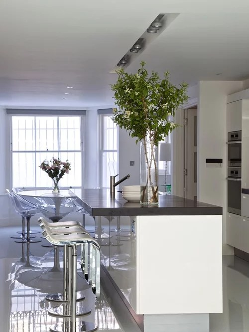 large contemporary galley eat kitchen london flat panel transitional eat kitchen multiple islands design ideas