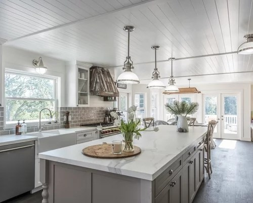 kitchen design ideas renovations photos grey splashback inspiration small transitional single wall eat kitchen