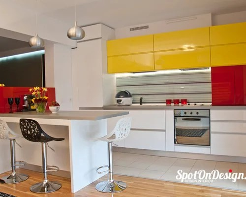 kitchen design ideas renovations photos yellow cabinets inspiration small transitional single wall eat kitchen
