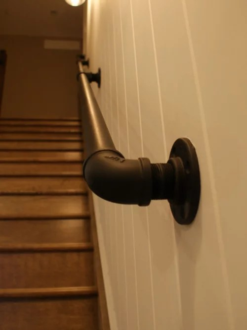 Pipe Rail Staircase Design Ideas, Remodels & Photos