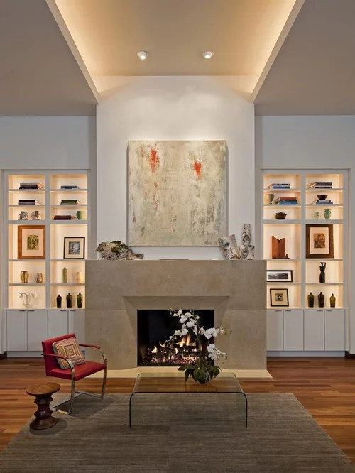 Glass Lighted Display Cabinets Houzz - living room display cabinets