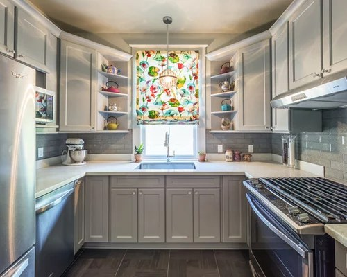 small shaped enclosed kitchen design photos inspiration small transitional shaped kitchen remodel