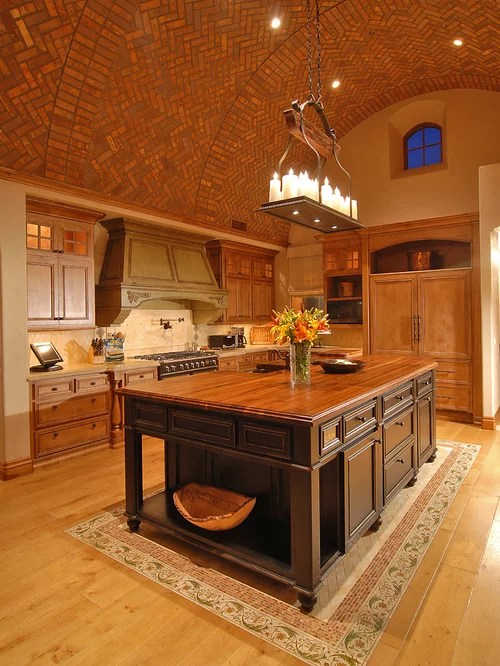 Compact Kitchen Island Tile Inlay | Houzz