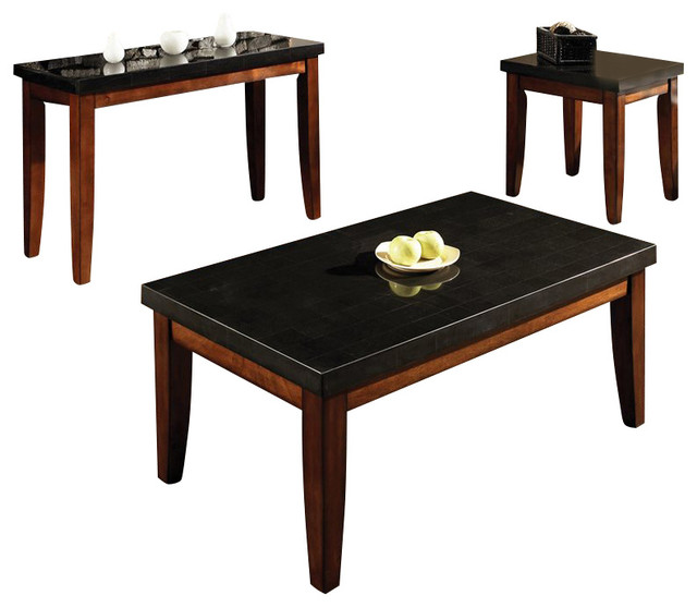 Steve Silver Company Montibello Rectangular 3 Piece Coffee Table - 3 piece living room table set