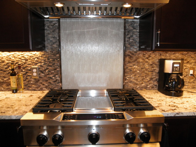 glass panel backsplash contemporary kitchen asked richly detailed panels clean