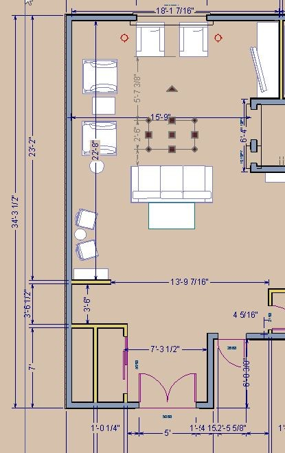 Need help with livingroom furniture layout