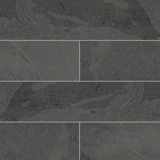 Gauged Montauk Black Slate Tile Traditional Wall And