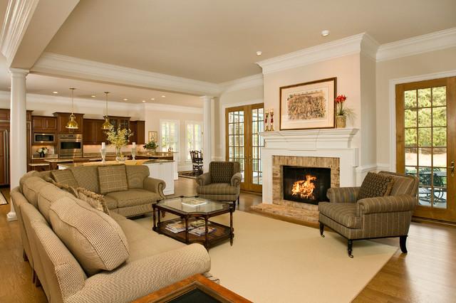Kelso - Traditional - Living Room - Richmond - by Rinehart Custom - open concept living room