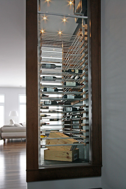 Exklusive Weinschränke Glass Wine Cellar In The Living Room -4- - Contemporary ...