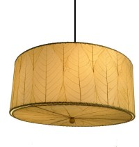 Drum Pendant Light in Natural - Tropical - Pendant ...