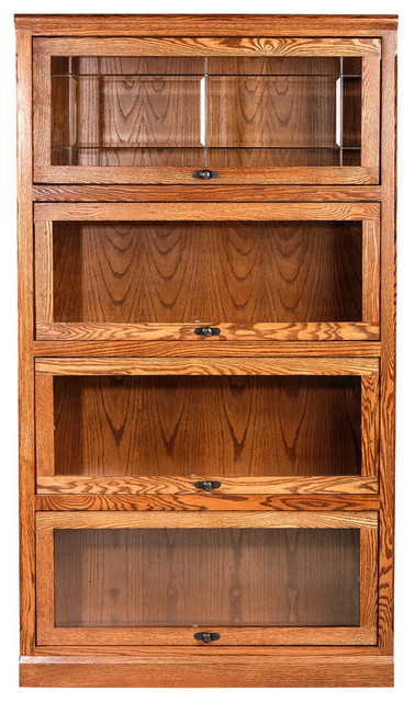 Forest Designs Mission Legal Bookcase Traditional