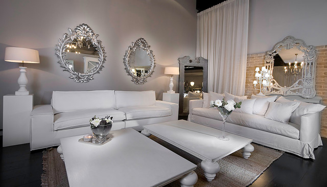 living room - Contemporary - Living Room - Other - by Elad Gonen - silver living room furniture