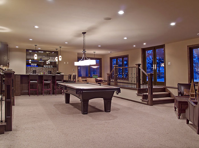 edina country club custom designed home modern basement minneapolis
