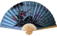 Soft Blue Poem Asian Wall Fan - Asian - Home Decor - by ...