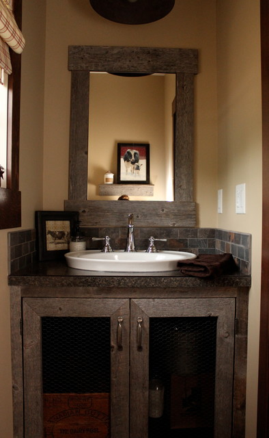 Houzz Bathroom Faucets Custom Barnboard Bathroom Vanity