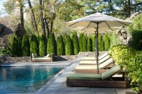 Chairs in Line by the Pool - Traditional - Pool - New York ...