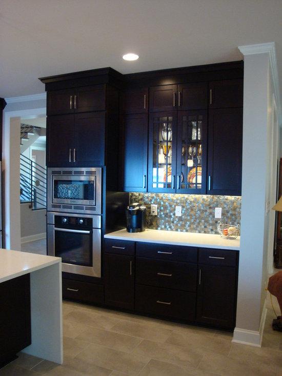 single wall kitchen design photos dark wood cabinets inspiration small transitional single wall eat kitchen