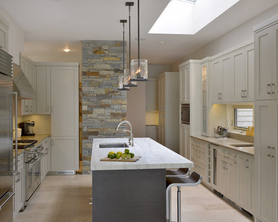 transitional enclosed kitchen design ideas remodels photos inspiration small transitional single wall eat kitchen