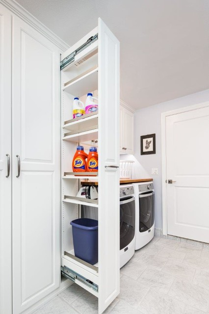 Laundry Room Storage Cabinets With Doors Laundry Room with Workbench and Storage - Traditional - Laundry Room - san francisco - by Valet ...