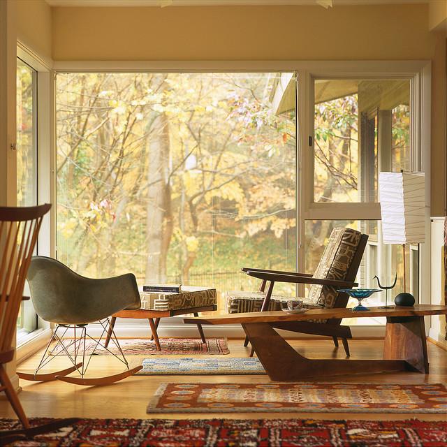 10 Vibrant Midcentury Modern Living Rooms - mid century modern living room