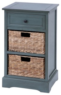 Wood Basket Cabinet