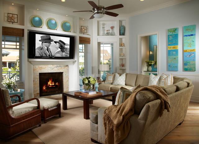 Coastal Living Davis Island Interior Design - Tropical - tropical living room furniture