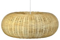 KOUBOO - Handwoven Wicker Donut Pendant Lamp, Natural ...