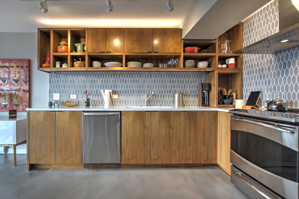 Seattle Condo Contemporary Kitchen Seattle By Fivedot