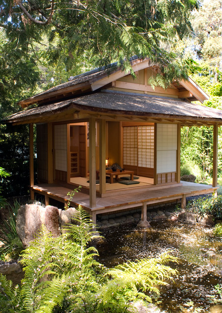 Traditionnelle Sofas With Wood Japanese Tea House - Asian - San Francisco - By Ki Arts