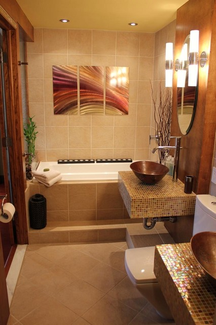 Houzz Bedroom Sets Spa-like Master Bathroom - Asian - Bathroom - Boston - By