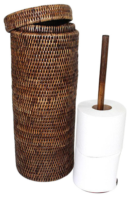 Multiple Toilet Paper Holder Antique Brown Tropical