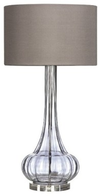 Tall Glass Table Lamp - Contemporary - Table Lamps - west ...