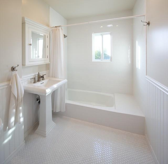 White Bathroom - Contemporary - Bathroom - Los Angeles - by David - beadboard bathroom ideas