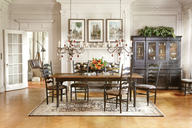 Beckett Dining Table  Buffet/Hutch - Traditional - Dining Room
