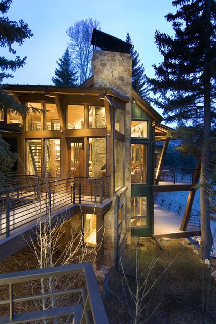 chimney rock cabin rustic bedroom denver