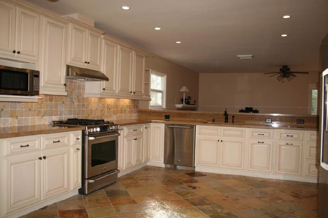 Antique White Cabinets Antique White Kitchen Cabinets Home Design - Columbus - By